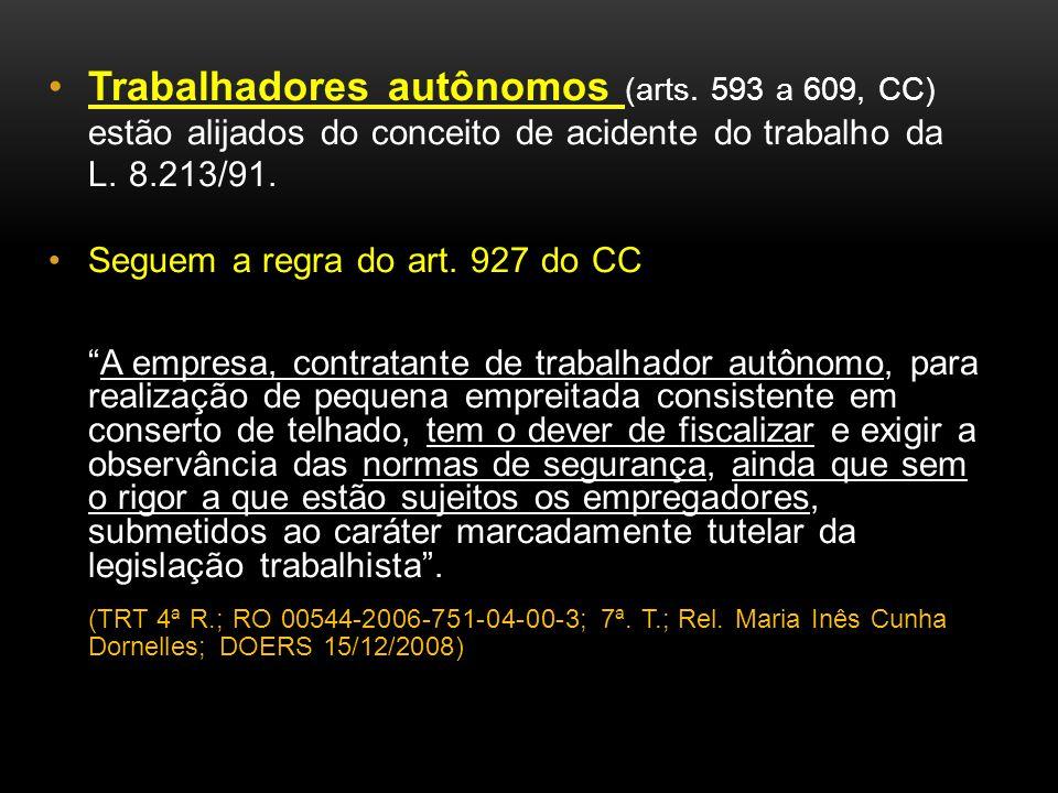 Trabalhadores autônomos (arts