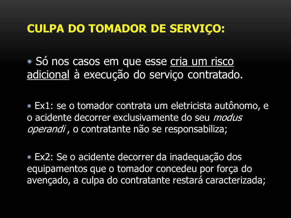 CULPA DO TOMADOR DE SERVIÇO: