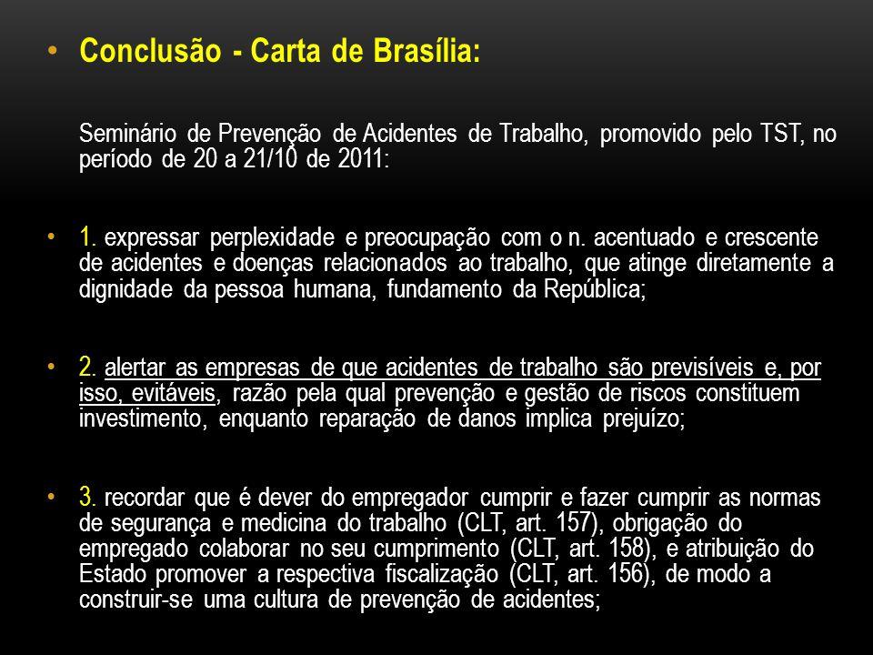 Conclusão - Carta de Brasília: