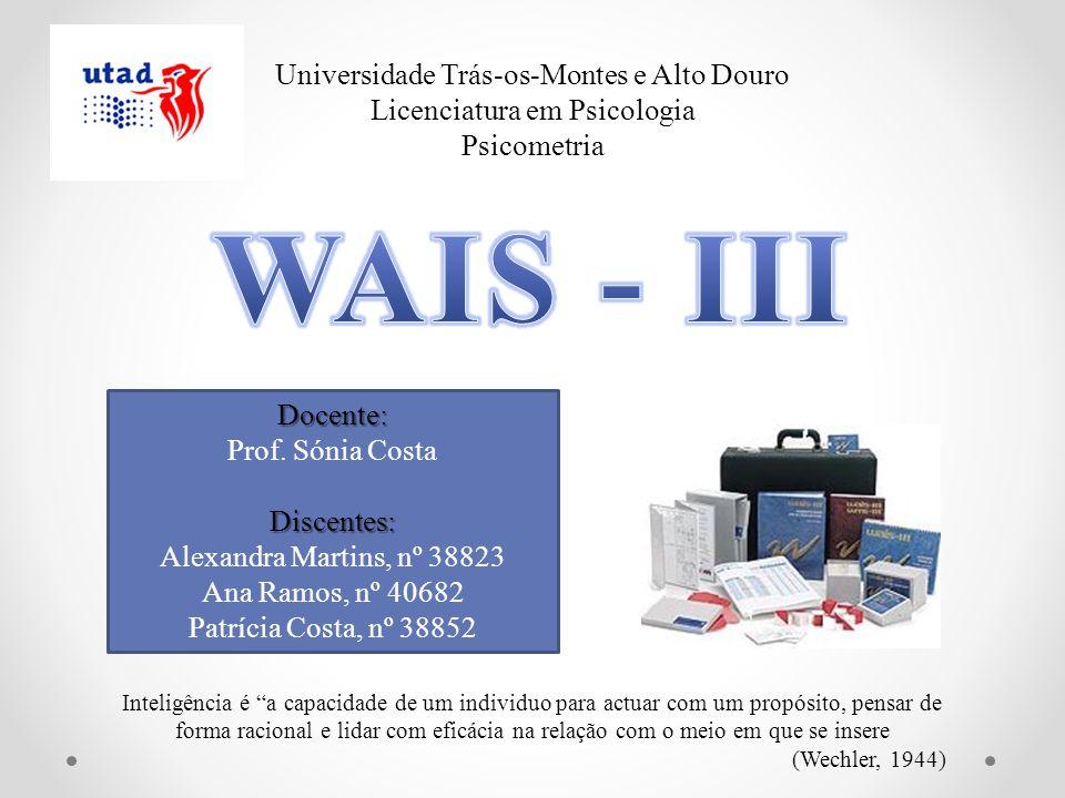 WAIS - III Universidade Trás-os-Montes e Alto Douro