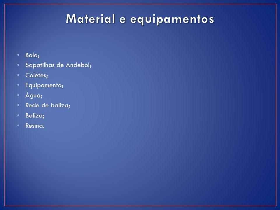 Material e equipamentos