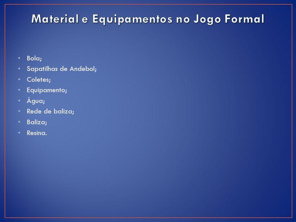Material e Equipamentos no Jogo Formal