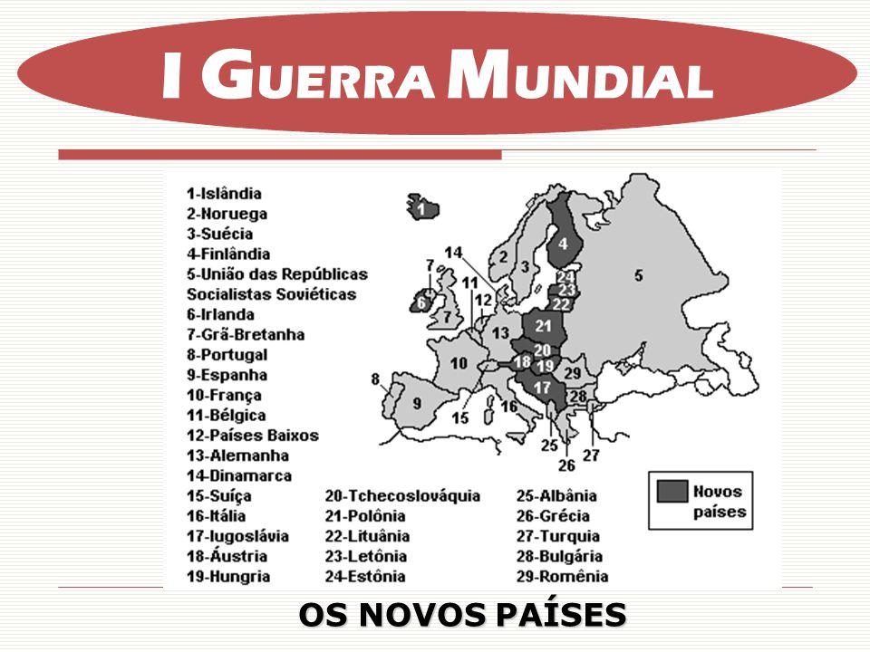 I GUERRA MUNDIAL OS NOVOS PAÍSES