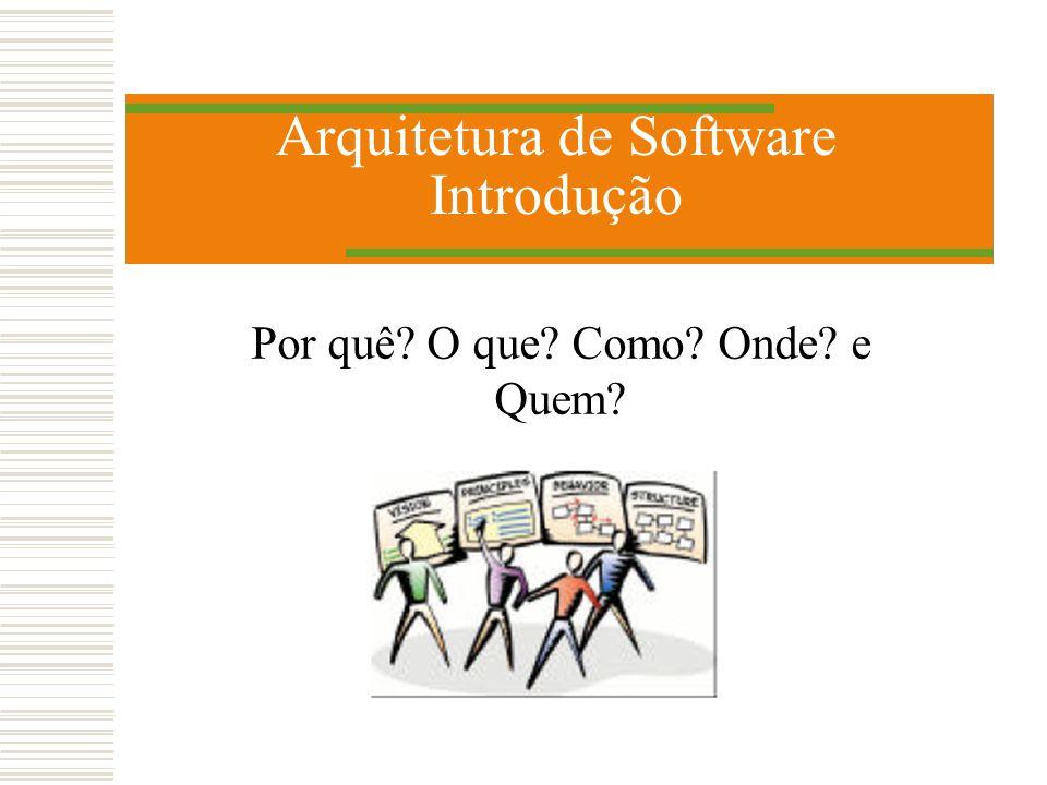 Arquitetura de Software Introdução