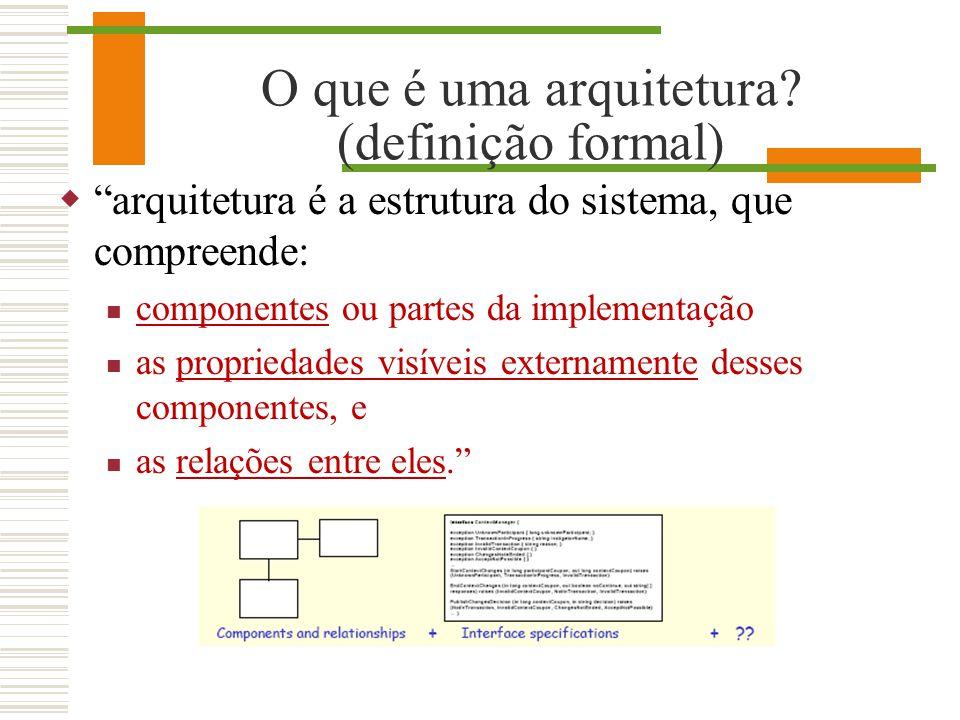 O que é uma arquitetura (definição formal)
