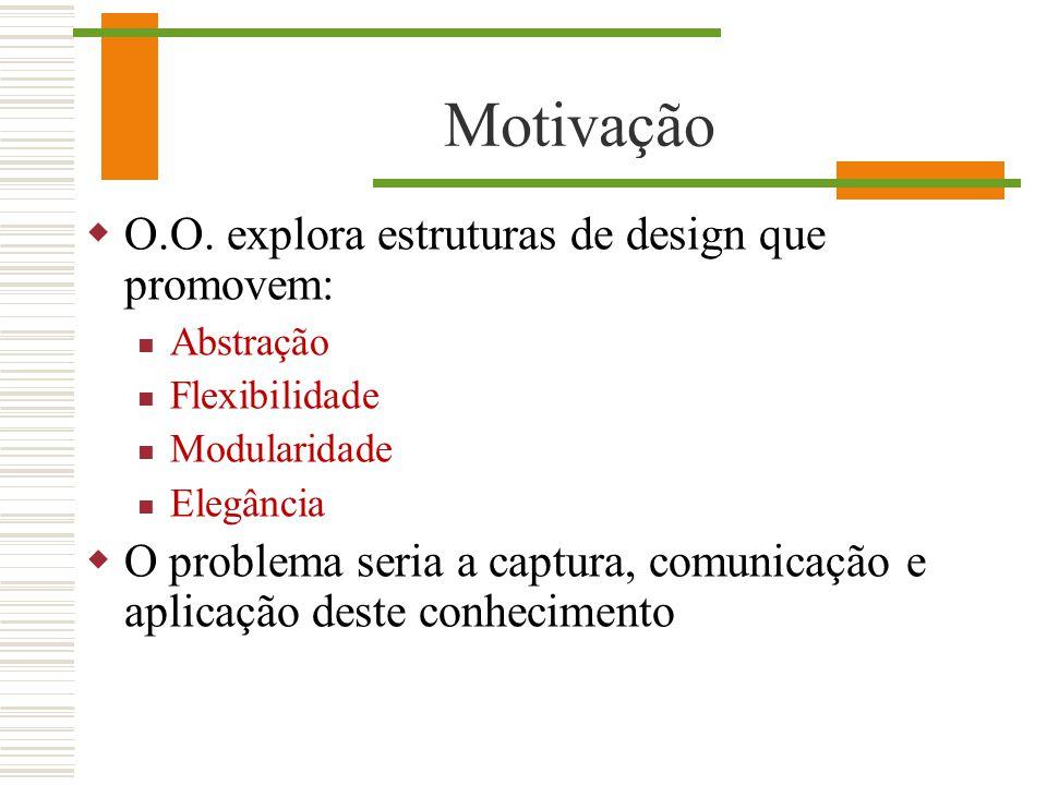 Motivação O.O. explora estruturas de design que promovem: