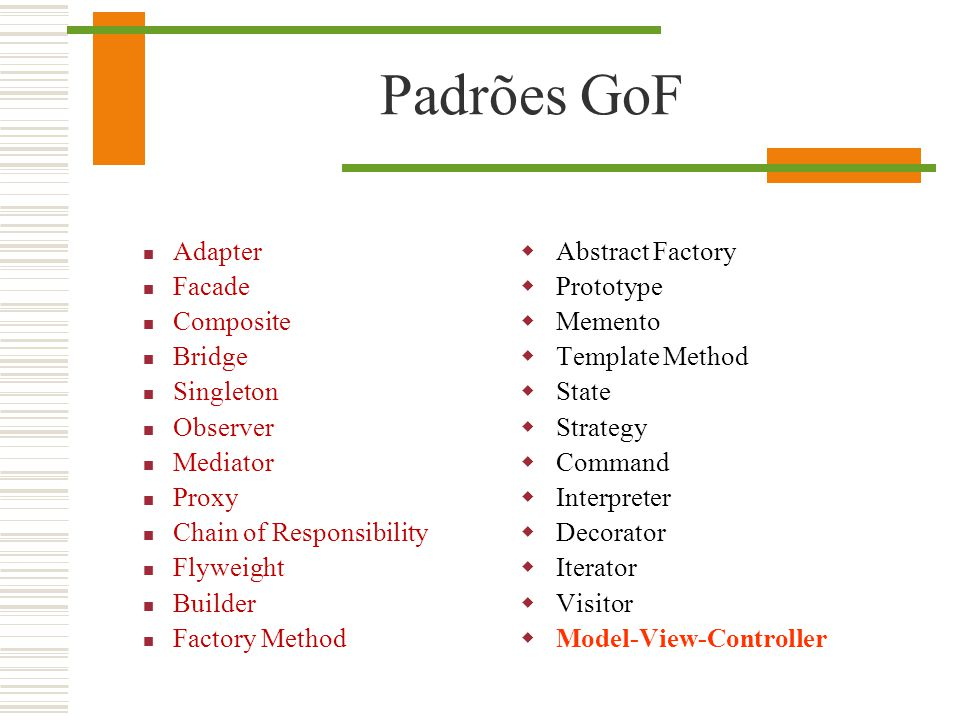 Padrões GoF Adapter Facade Composite Bridge Singleton Observer