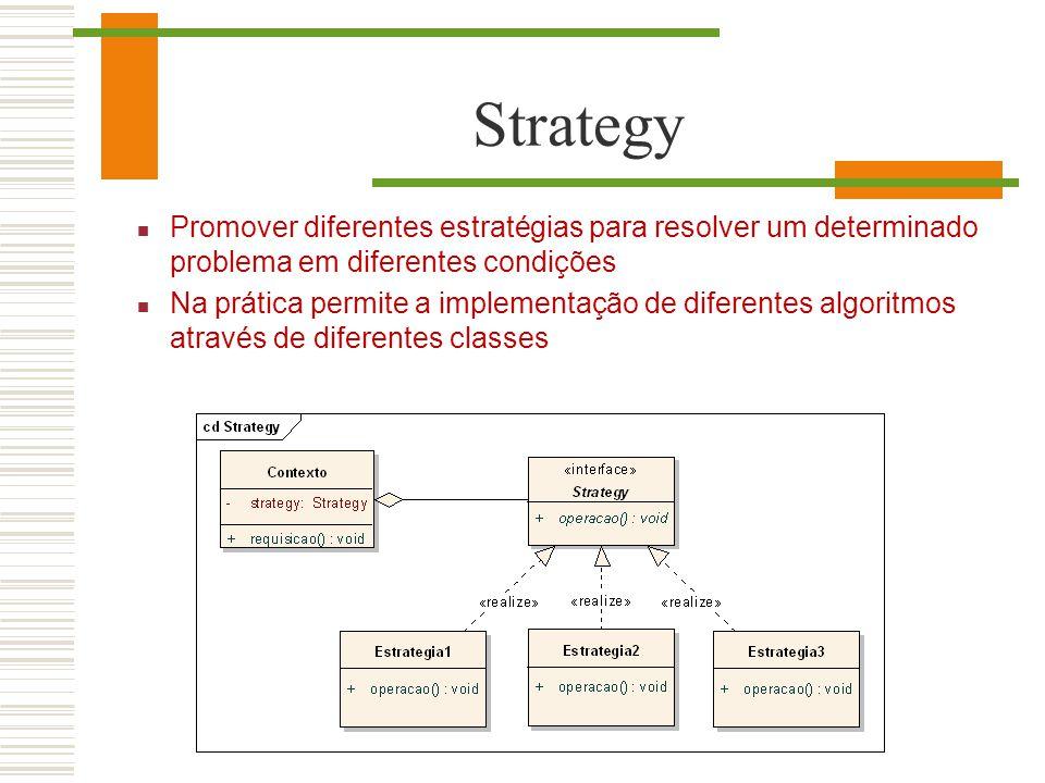 Strategy Promover diferentes estratégias para resolver um determinado problema em diferentes condições.