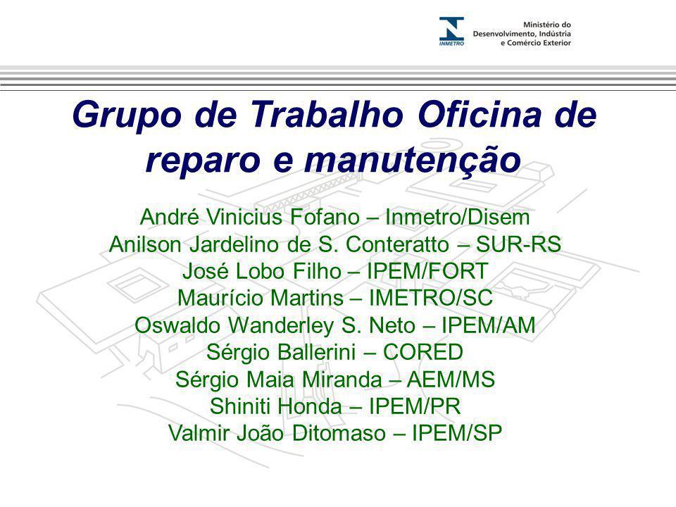 Grupo de Trabalho Oficina de reparo e manutenção