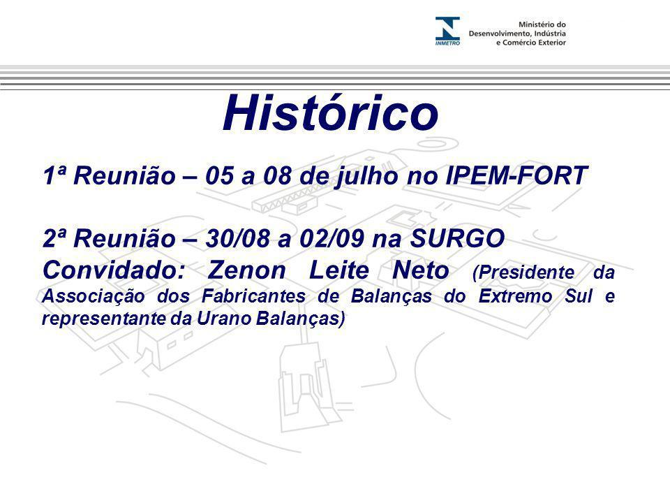 Histórico 1ª Reunião – 05 a 08 de julho no IPEM-FORT