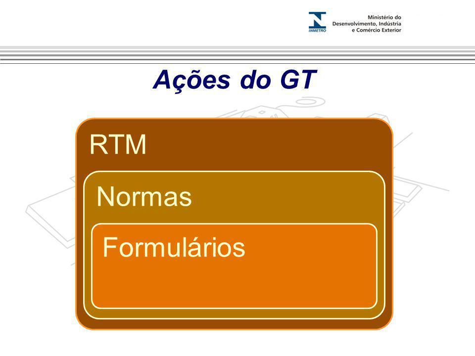 Ações do GT RTM Normas Formulários