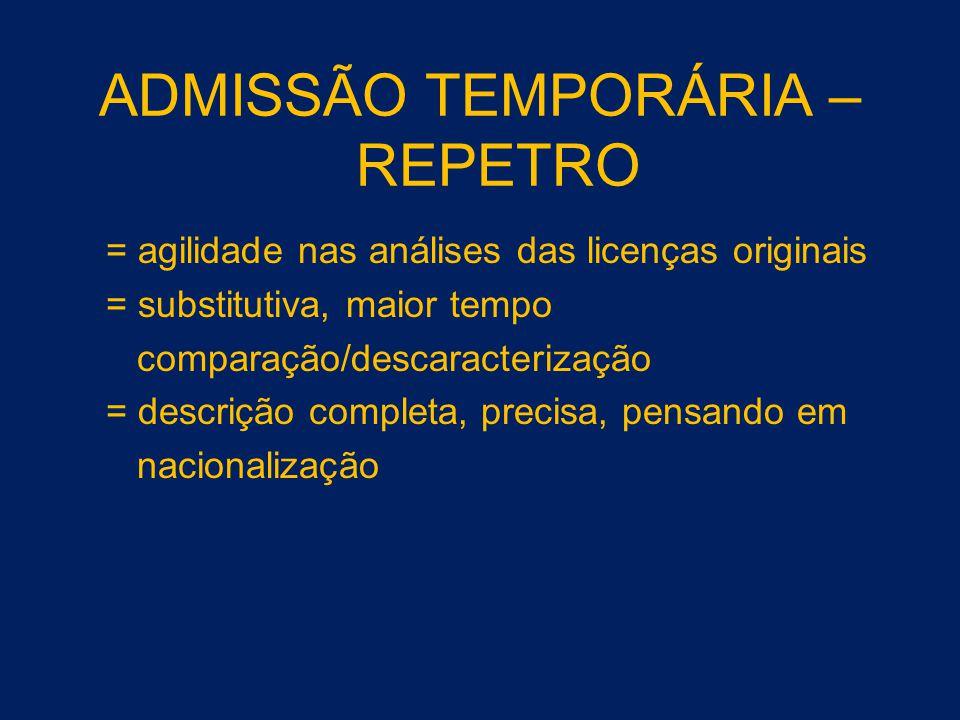 ADMISSÃO TEMPORÁRIA – REPETRO