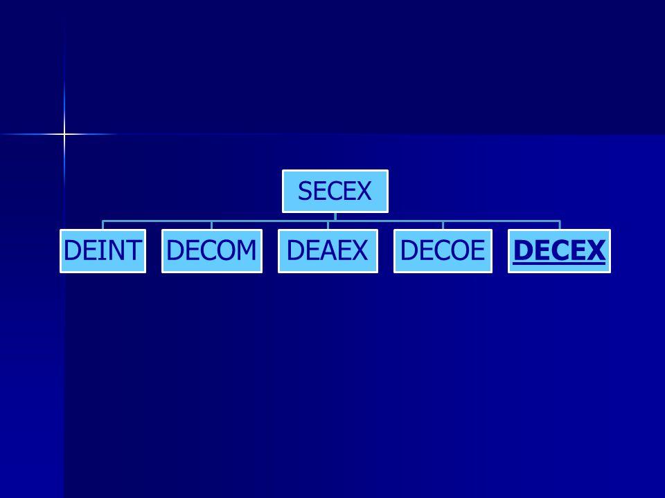 SECEX DEINT DECOM DEAEX DECOE DECEX