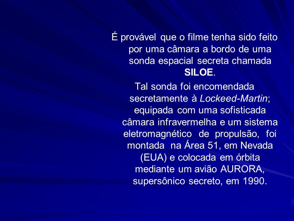 É provável que o filme tenha sido feito por uma câmara a bordo de uma sonda espacial secreta chamada SILOE.