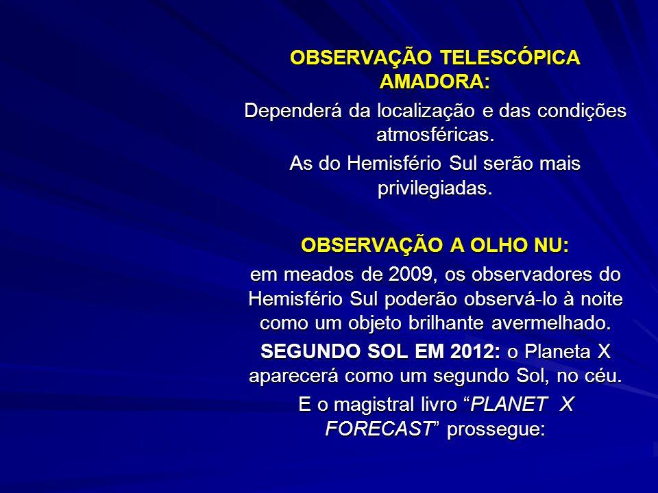 OBSERVAÇÃO TELESCÓPICA AMADORA: