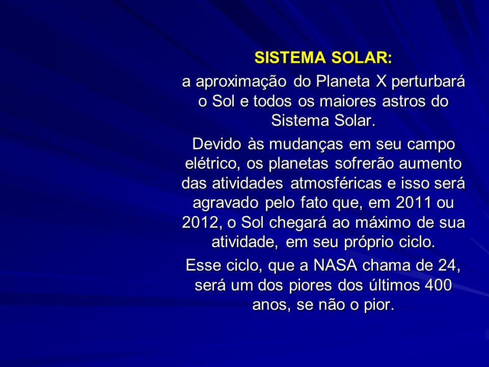 SISTEMA SOLAR: a aproximação do Planeta X perturbará o Sol e todos os maiores astros do Sistema Solar.