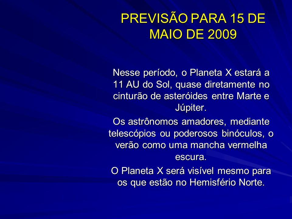 PREVISÃO PARA 15 DE MAIO DE 2009
