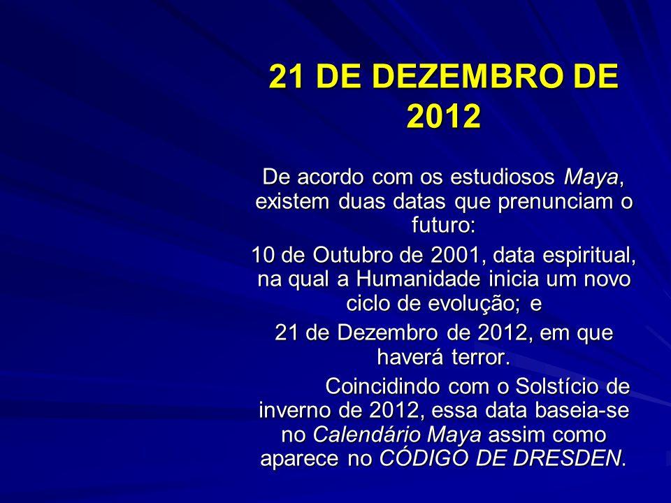 21 de Dezembro de 2012, em que haverá terror.