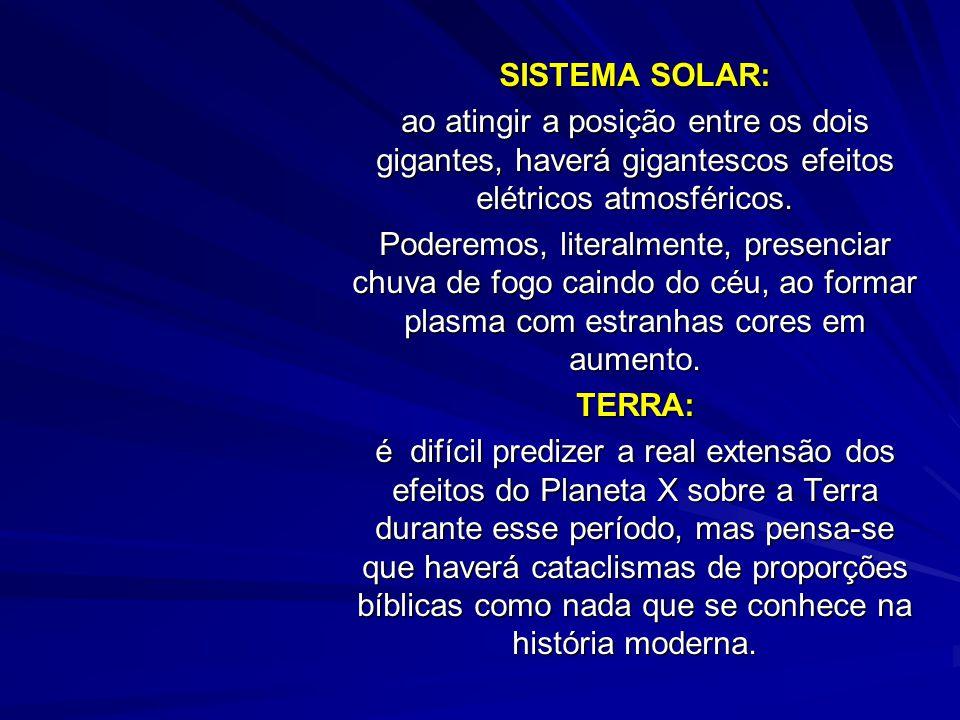 SISTEMA SOLAR: ao atingir a posição entre os dois gigantes, haverá gigantescos efeitos elétricos atmosféricos.