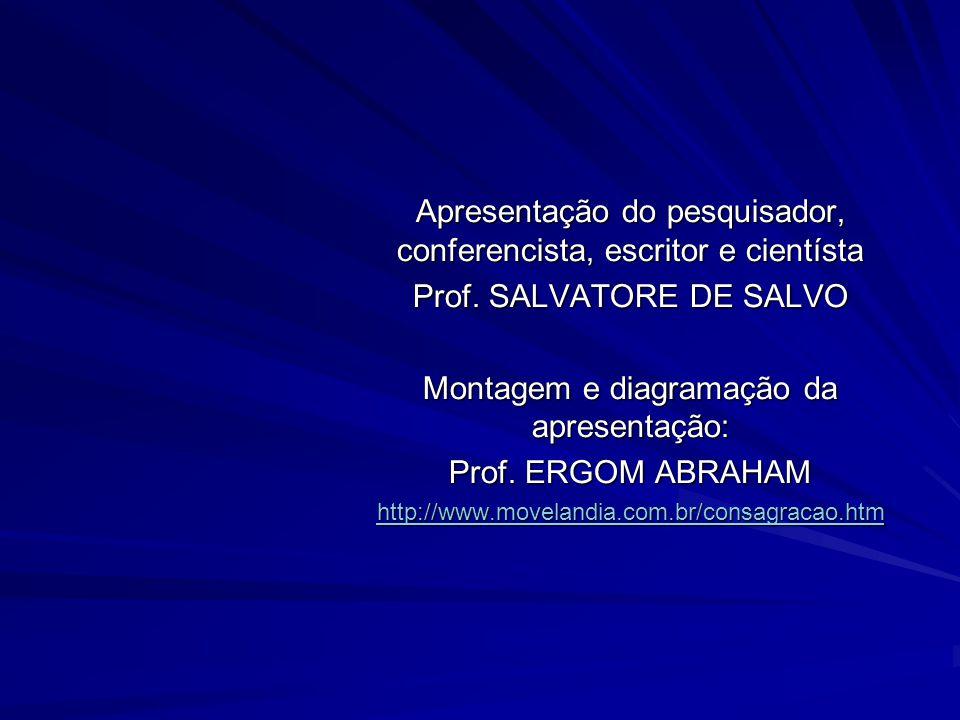 Apresentação do pesquisador, conferencista, escritor e cientísta