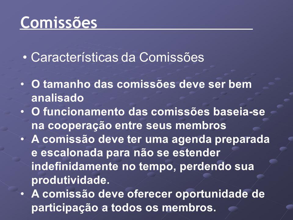 Comissões Características da Comissões