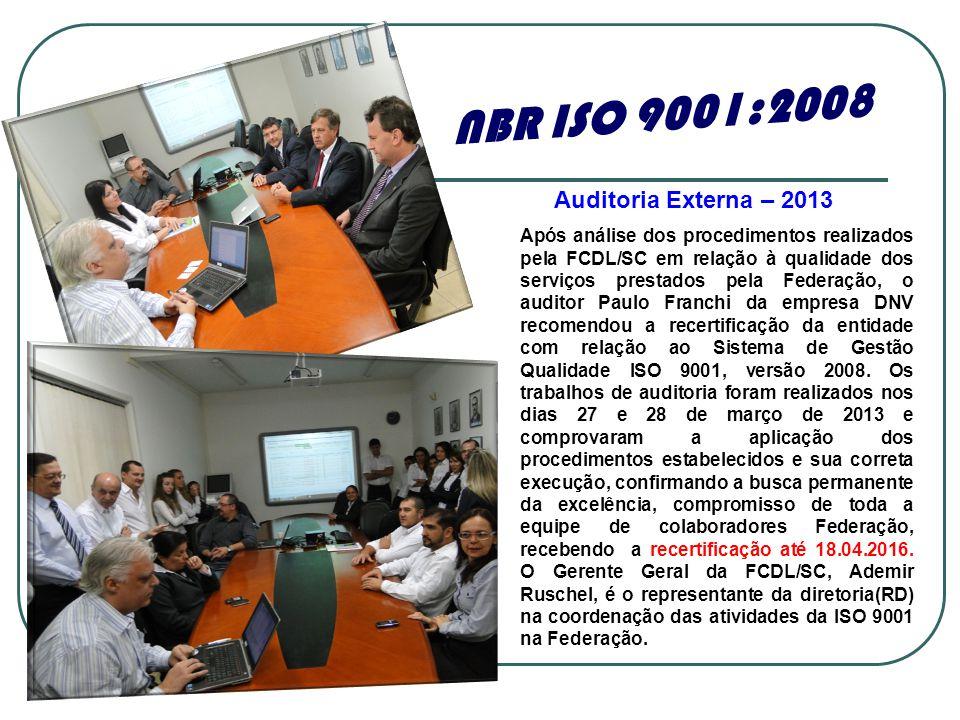 NBR ISO 9001:2008 Auditoria Externa – 2013