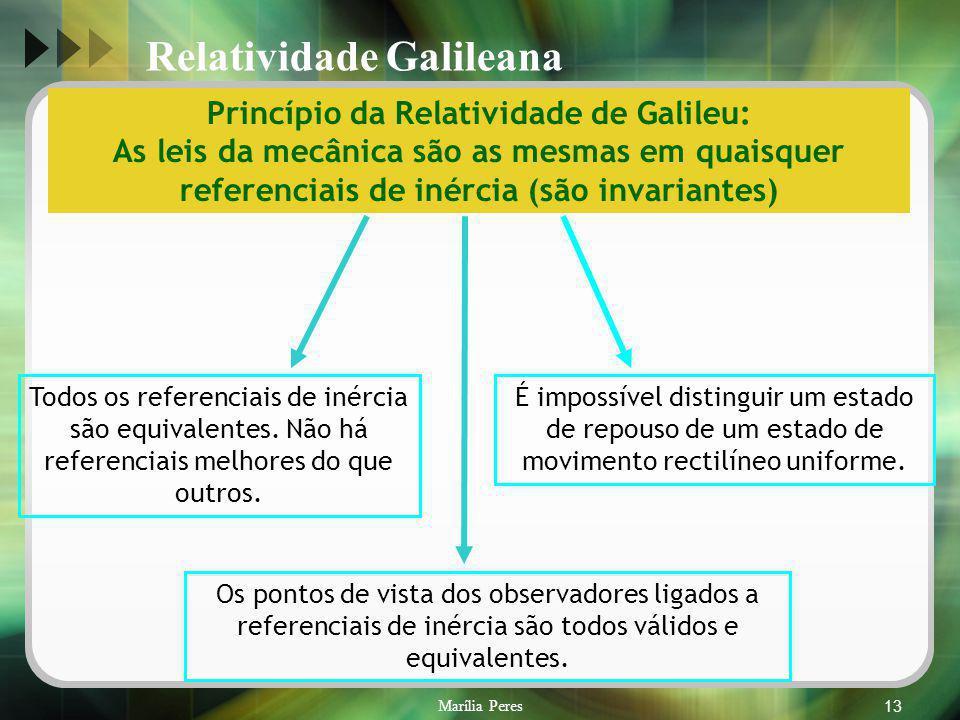 Princípio da Relatividade de Galileu: