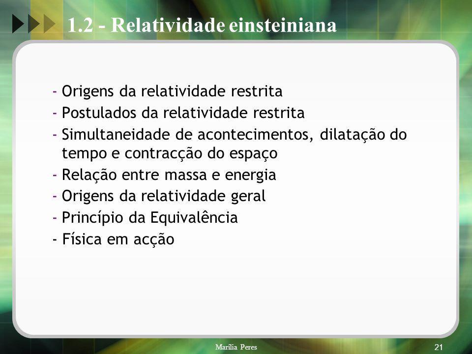 1.2 - Relatividade einsteiniana