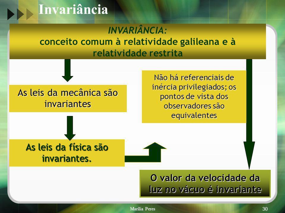 Invariância INVARIÂNCIA: