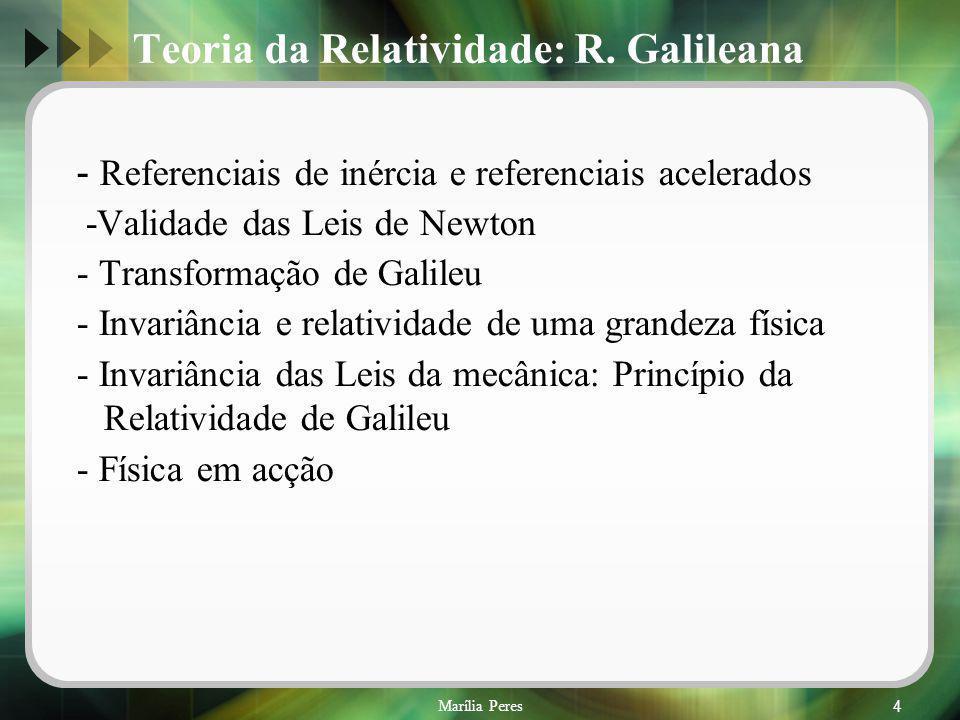 Teoria da Relatividade: R. Galileana