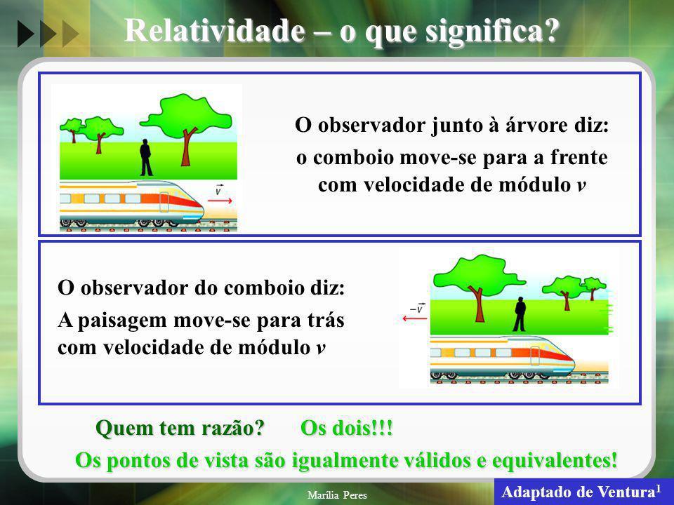 Relatividade – o que significa