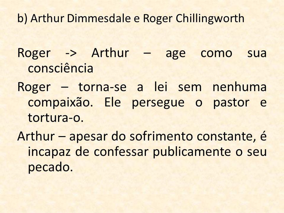 Roger -> Arthur – age como sua consciência