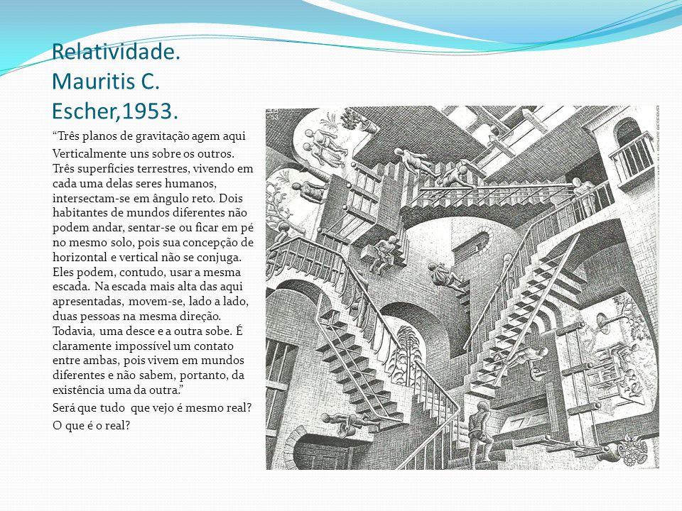 Relatividade. Mauritis C. Escher,1953.