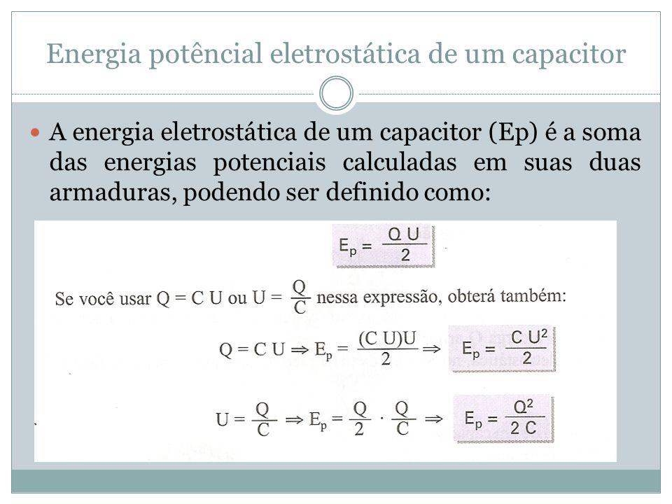 Energia potêncial eletrostática de um capacitor