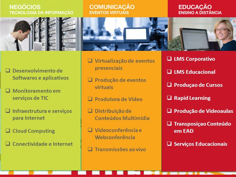 LMS Corporativo LMS Educacional. Produçao de Cursos. Rapid Learning. Produção de Videoaulas. Transposiçao Conteúdo em EAD.