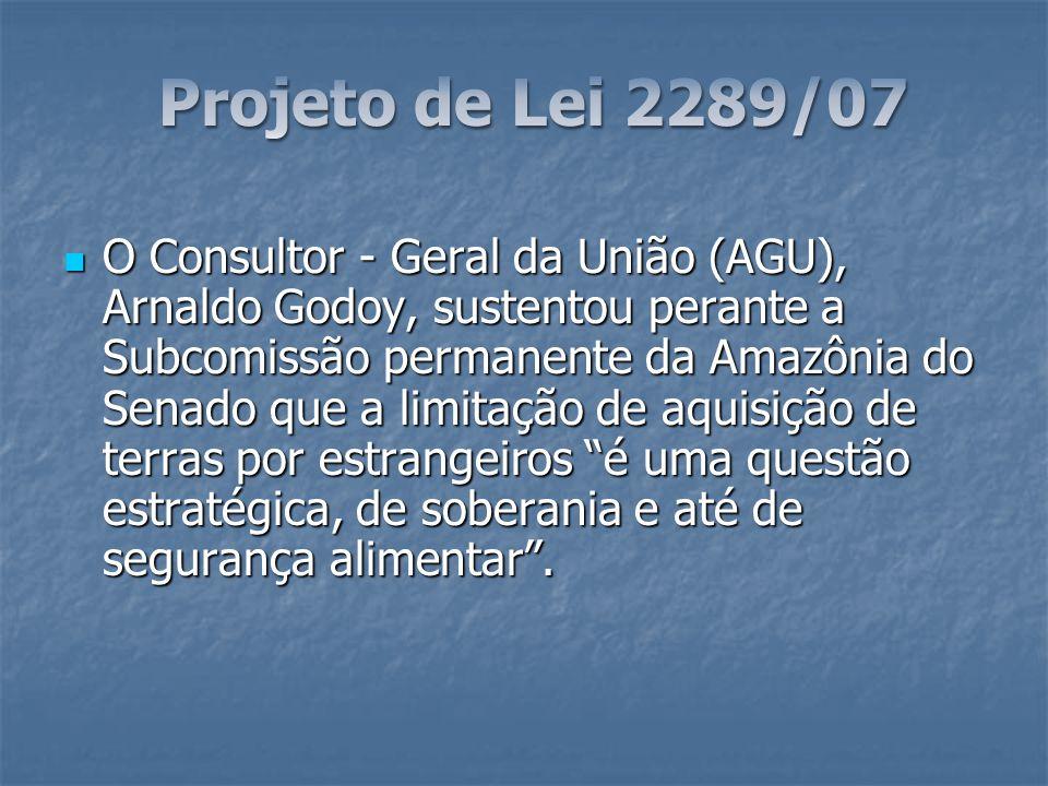 Projeto de Lei 2289/07