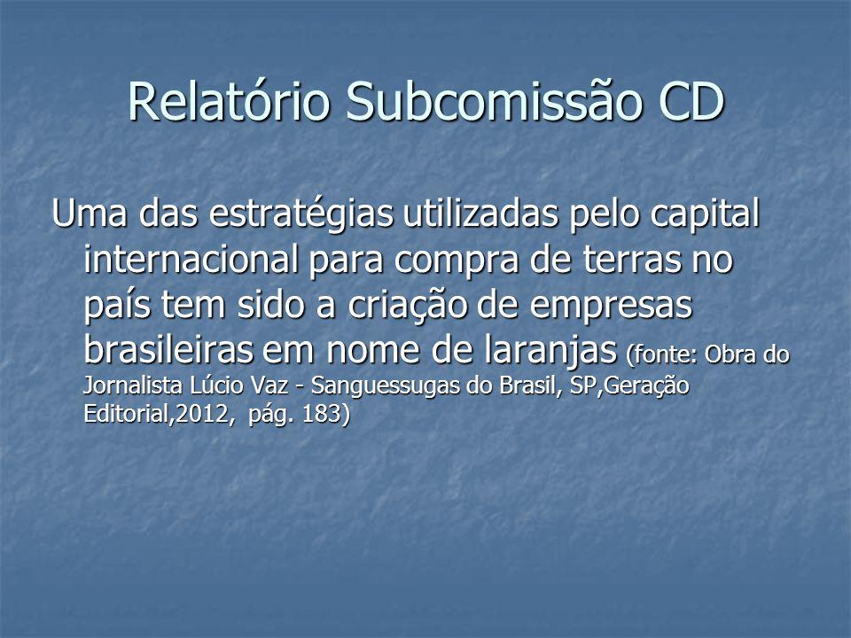 Relatório Subcomissão CD