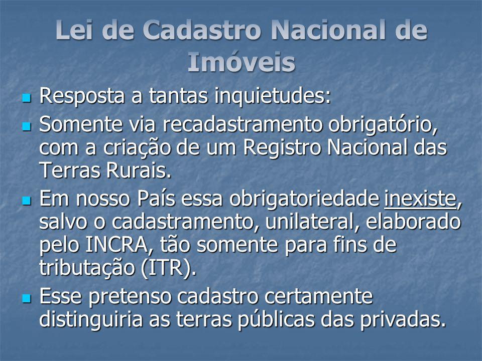 Lei de Cadastro Nacional de Imóveis