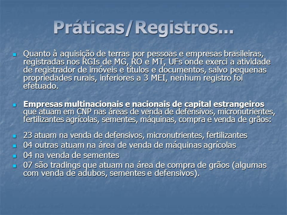 Práticas/Registros...