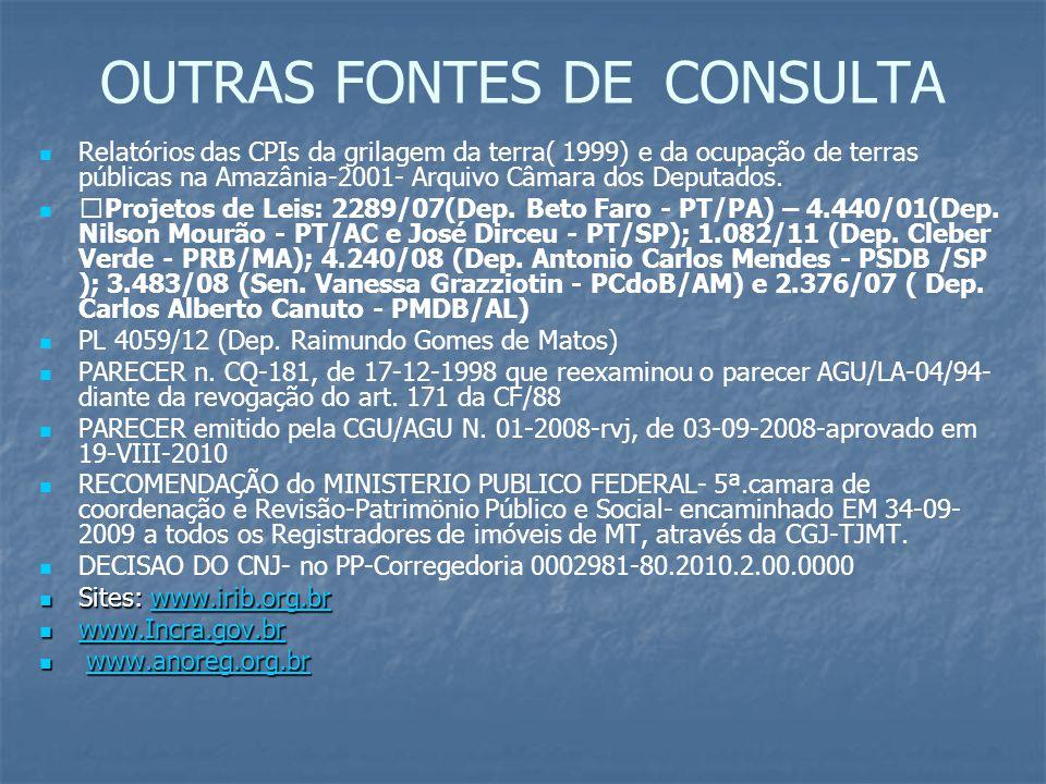OUTRAS FONTES DE CONSULTA