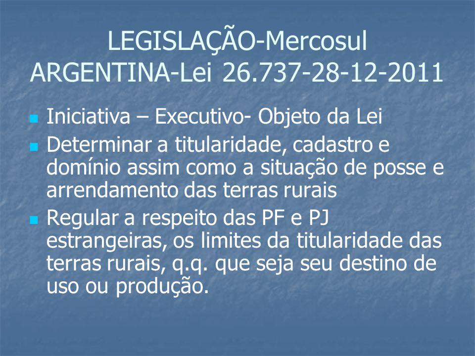 LEGISLAÇÃO-Mercosul ARGENTINA-Lei 26.737-28-12-2011