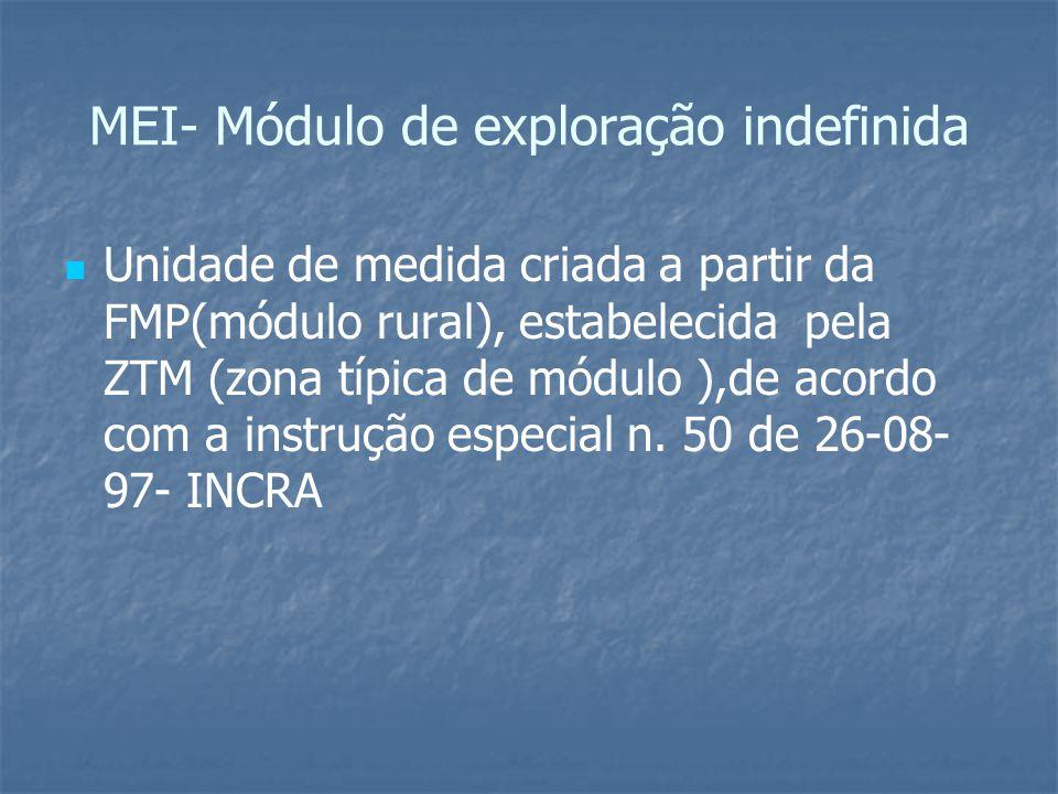 MEI- Módulo de exploração indefinida