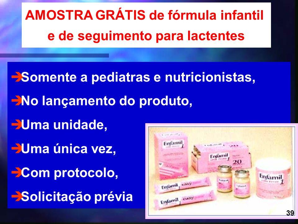 AMOSTRA GRÁTIS de fórmula infantil e de seguimento para lactentes