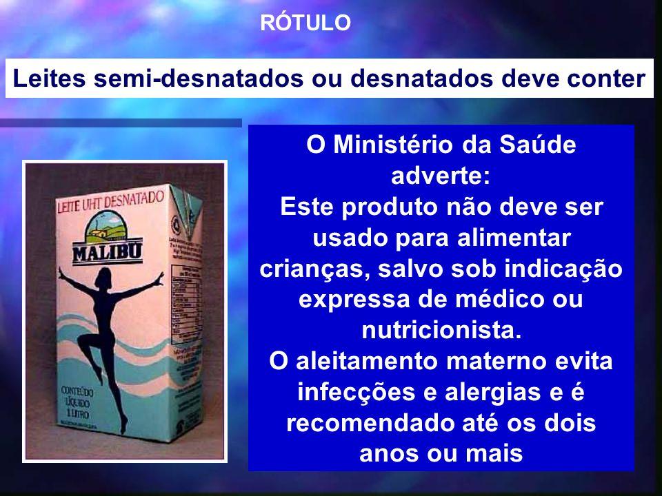 O Ministério da Saúde adverte: