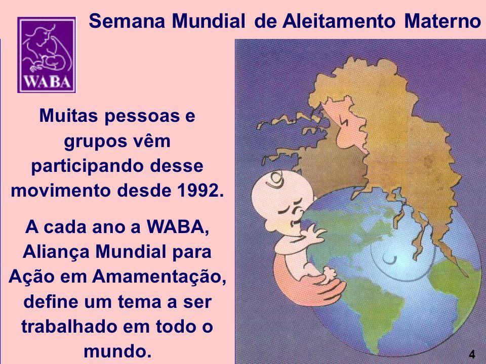 Muitas pessoas e grupos vêm participando desse movimento desde 1992.