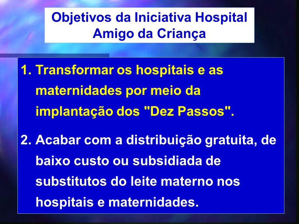 Objetivos da Iniciativa Hospital Amigo da Criança