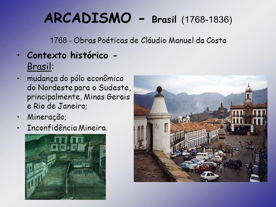 ARCADISMO - Brasil (1768-1836) 1768 - Obras Poéticas de Cláudio Manuel da Costa