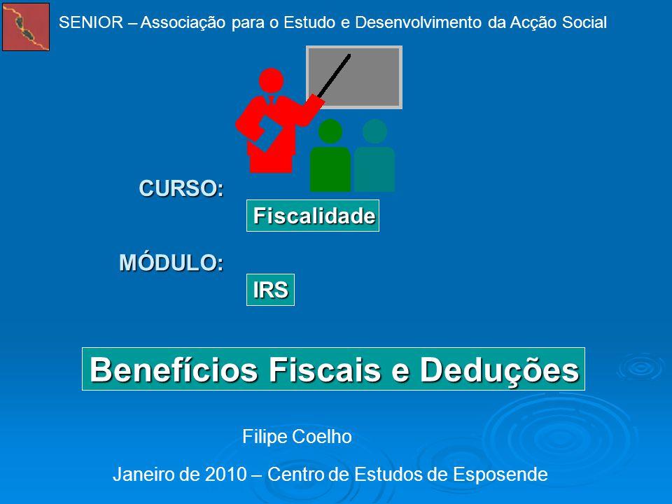 Benefícios Fiscais e Deduções
