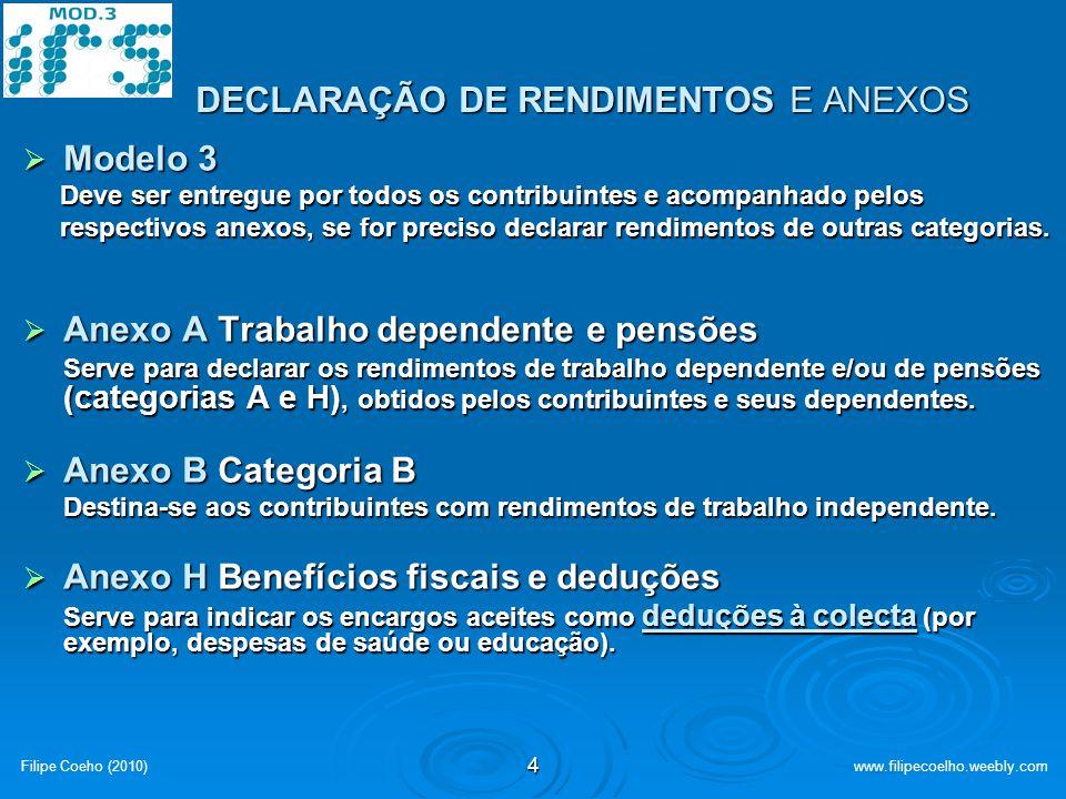 DECLARAÇÃO DE RENDIMENTOS E ANEXOS
