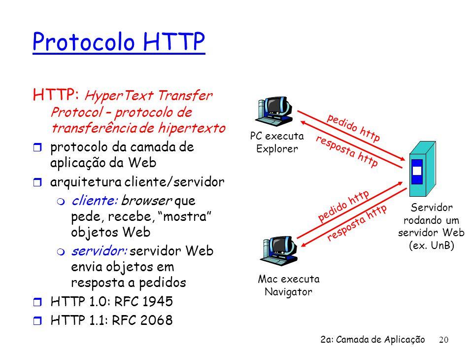 Servidor rodando um servidor Web